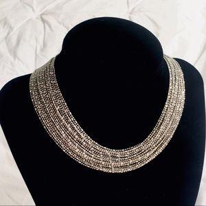 Lulus Shiny Silver Multi Strand Choker Necklace